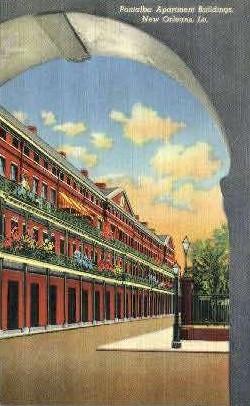 Pontalba Apartment Buildings - New Orleans, Louisiana LA Postcard