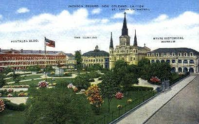 Jackson Square - New Orleans, Louisiana LA Postcard