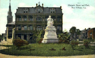 Margaret Statue and Park - New Orleans, Louisiana LA Postcard