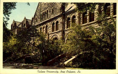 Tulane University - New Orleans, Louisiana LA Postcard
