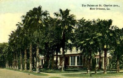 St. Charles Avenue - New Orleans, Louisiana LA Postcard