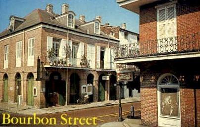 Bourbon Street - New Orleans, Louisiana LA Postcard