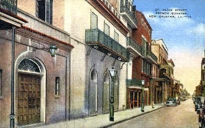 St. Peter's Street - New Orleans, Louisiana LA Postcard