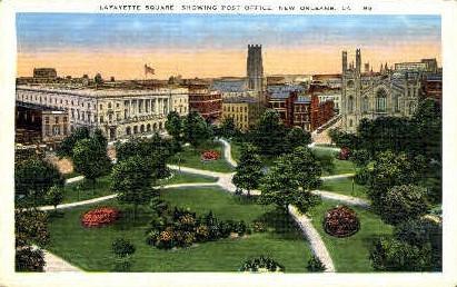 Lafayette Square - New Orleans, Louisiana LA Postcard