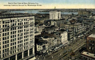 Crescent formed by Mississippi River - New Orleans, Louisiana LA Postcard