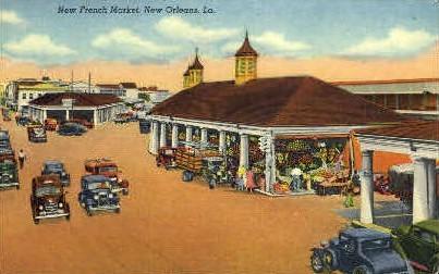 New French Market - New Orleans, Louisiana LA Postcard