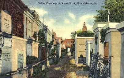 Oldest Cemetery, St. Louis - New Orleans, Louisiana LA Postcard