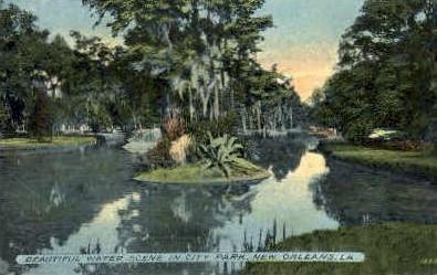 City Park  - New Orleans, Louisiana LA Postcard