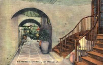 Patio Royal - New Orleans, Louisiana LA Postcard