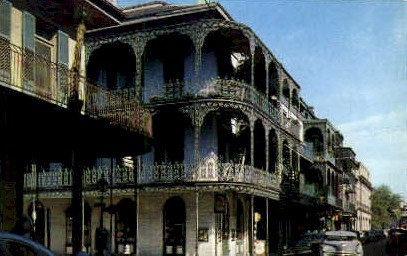 Lace Balconies - New Orleans, Louisiana LA Postcard