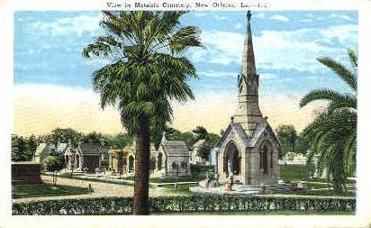 Metairie Cemetery   - New Orleans, Louisiana LA Postcard