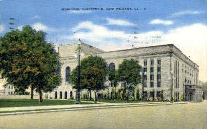 Municipal Auditorium - New Orleans, Louisiana LA Postcard
