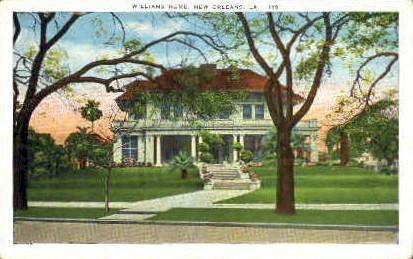 Williams Home - New Orleans, Louisiana LA Postcard