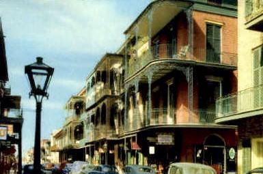 Saint Peter Street - New Orleans, Louisiana LA Postcard