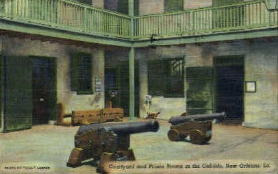 Courtyard & Prision Rooms in the Cabildo - New Orleans, Louisiana LA Postcard