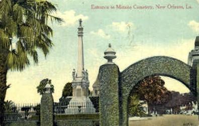 Metarie Cemetery Entance  - New Orleans, Louisiana LA Postcard