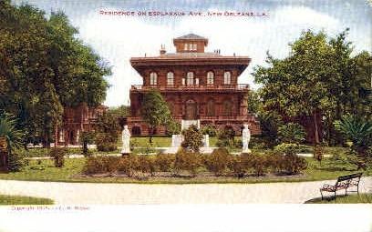 Esplanade Ave. - New Orleans, Louisiana LA Postcard