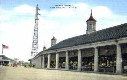 French Market  - New Orleans, Louisiana LA Postcard