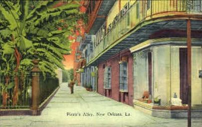 Pirate's Alley - New Orleans, Louisiana LA Postcard