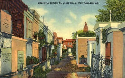 Old St. Louis Cemetery - New Orleans, Louisiana LA Postcard