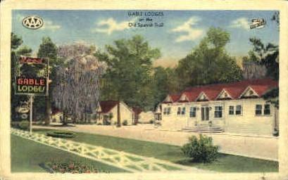 Gamble Lodges - Lake Charles, Louisiana LA Postcard
