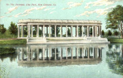 The Peristyle, City Park - New Orleans, Louisiana LA Postcard