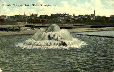 ShreveportWater Works - Louisiana LA Postcard