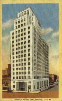 Comercial National Bank - Shreveport, Louisiana LA Postcard