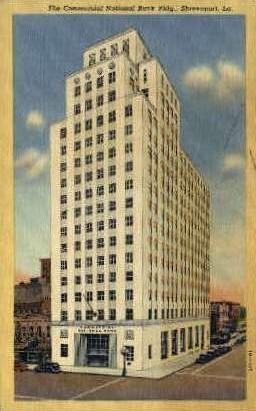 Commercial National Bank Building - Shreveport, Louisiana LA Postcard