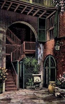 Brulatour Courtyard - New Orleans, Louisiana LA Postcard