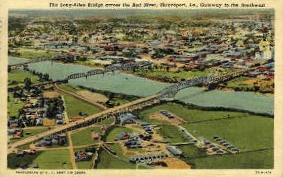 Long-Allen Bridge - Shreveport, Louisiana LA Postcard
