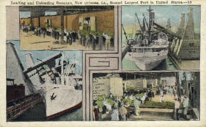 Banana Port - New Orleans, Louisiana LA Postcard
