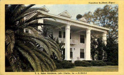T.L. Huber Residence - Lake Charles, Louisiana LA Postcard