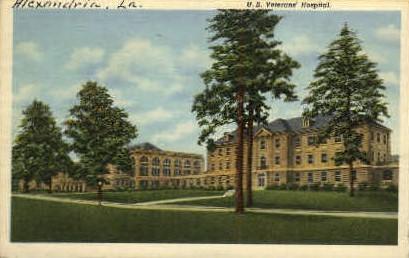 U.S. Vetrans' Hopsital  - Alexandria, Louisiana LA Postcard