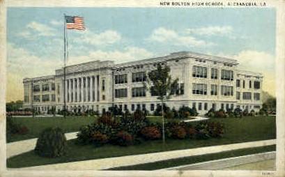 New Bolton High School  - Alexandria, Louisiana LA Postcard