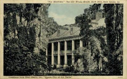 Old Weks House - New Iberia, Louisiana LA Postcard