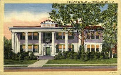 Colonial Home  - Alexandria, Louisiana LA Postcard
