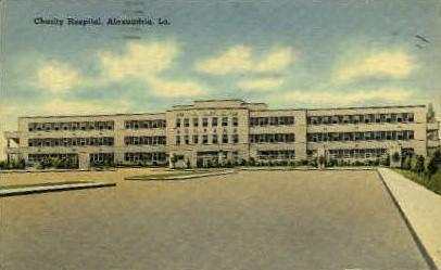 Charity Hospital - Alexandria, Louisiana LA Postcard
