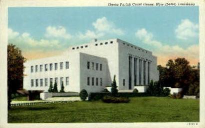 Iberia Parish Court House - New Iberia, Louisiana LA Postcard