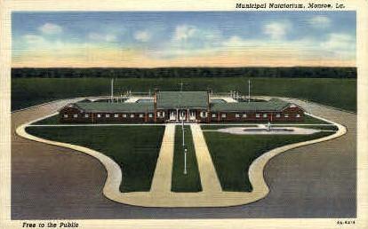 Municipal Natatorium  - Monroe, Louisiana LA Postcard