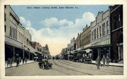 Ryan Street  - Lake Charles, Louisiana LA Postcard