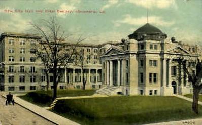 New City Hall & Hotel Bentley - Alexandria, Louisiana LA Postcard
