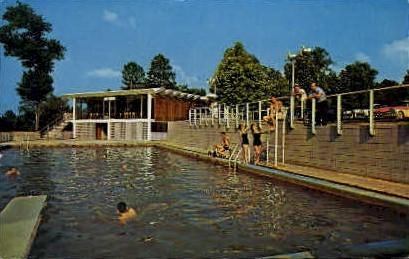 Hot Wells Swimming Pool  - Alexandria, Louisiana LA Postcard
