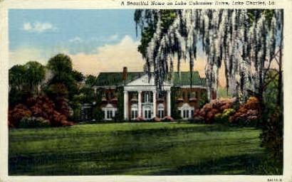 Home on Lake Calcasieu Drive  - Lake Charles, Louisiana LA Postcard