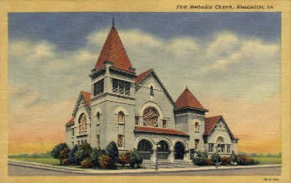 First Methodist Church - Alexandria, Louisiana LA Postcard