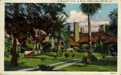 Kirby Street - Lake Charles, Louisiana LA Postcard