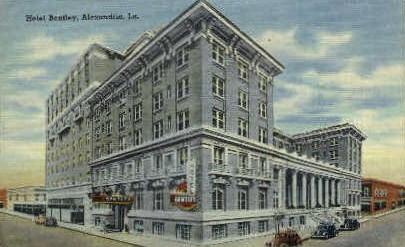Bentley Hotel - Alexandria, Louisiana LA Postcard