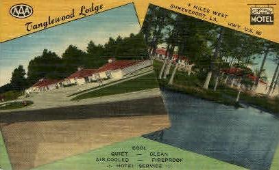 Tanglewood Lodge - Shreveport, Louisiana LA Postcard