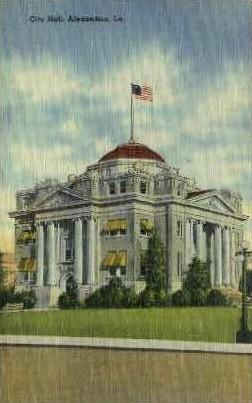 City Hall  - Alexandria, Louisiana LA Postcard