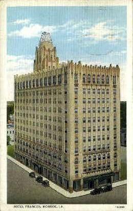 Hotel Frances - Monroe, Louisiana LA Postcard